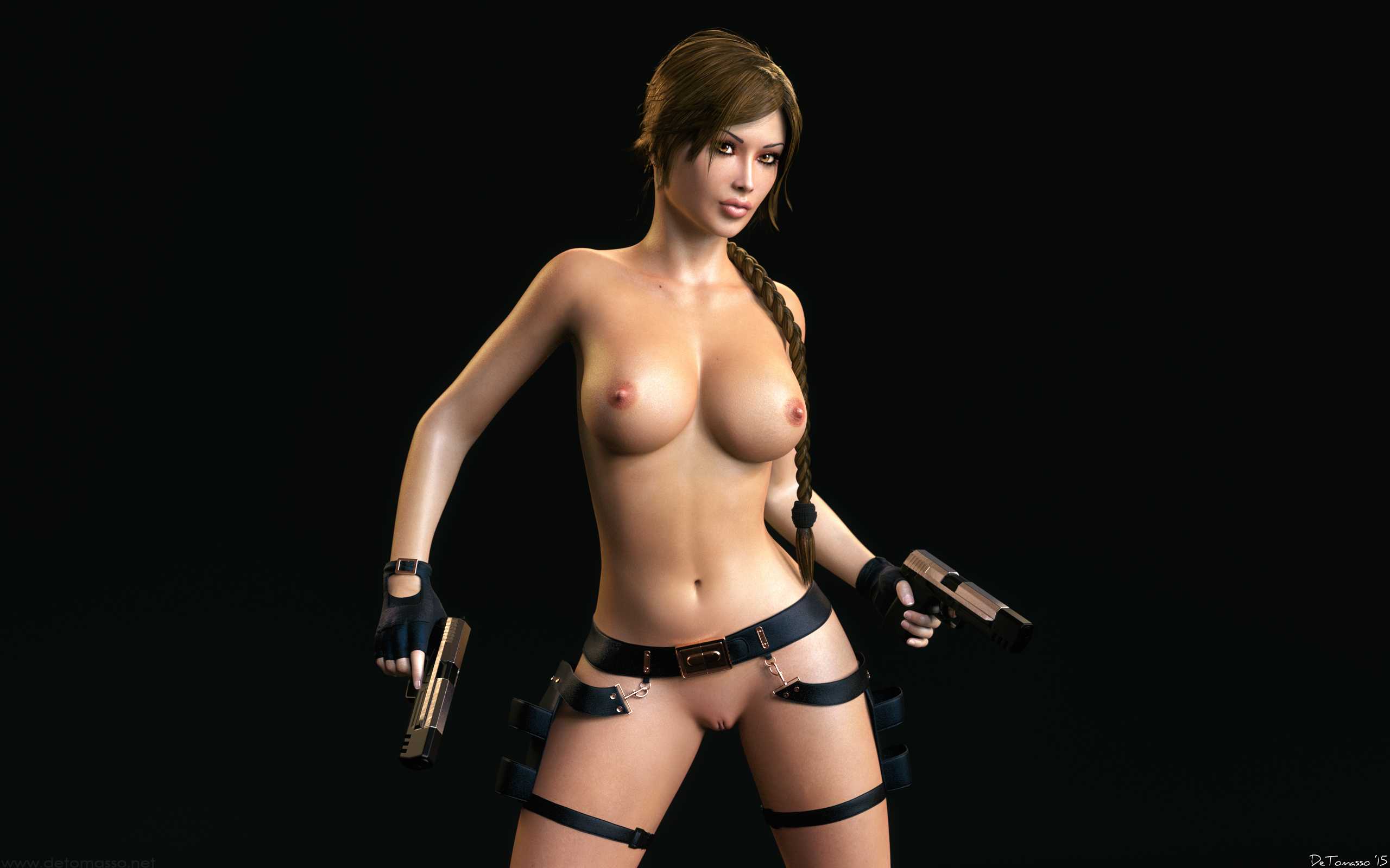 Naked video game characters