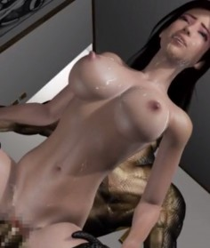 3D Housewife Fucked By Evil Creature